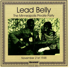 Lead Belly Private Party Minneapolis Minnesota '48