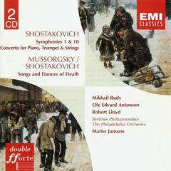 Shostakovich:Symphonies 1 & 10/Concerto for Piano, Trumpet, Strings/Songs & Dances of Death
