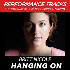 Hanging On (Medium Key Performance Track With Background Vocals)