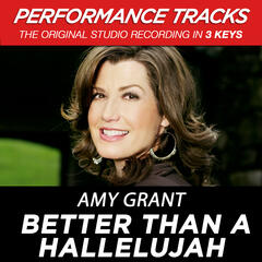 Better Than A Hallelujah (Medium Key Performance Track With Background Vocals)
