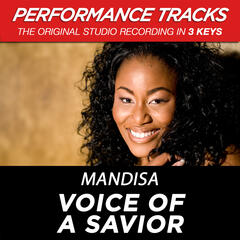 Voice Of A Savior (Medium Key Performance Track With Background Vocals)