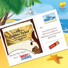 Dizzy & Shades Golden Ticket Chocolate Party