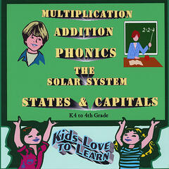 Multiplication, Addition, Phonics, States & Capitals, The Solar System