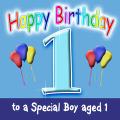 Happy Birthday (Boy Age 1)