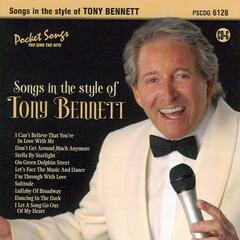 Songs in the style of Tony Bennett