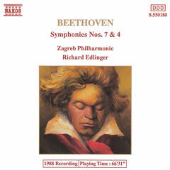 Beethoven : Symphonies Nos. 7 and 4