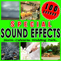 Storm, Cafeteria, Wedding, Park... Special Sound Effects.