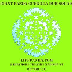 Live Panda! 2010-03-06 Barrymore Theatre. Madison, Wi
