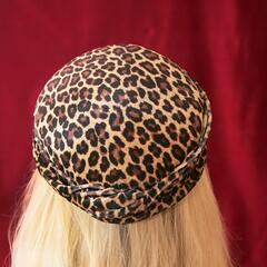 Leopard-Skin Pill-Box Hat