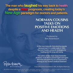 Norman Cousins Talks on Positive Emotions and Health