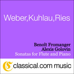 Ferdinand Ries, Sonata For Flute And Piano No. 5 In E Flat Major, Op. 169 (Sentimental)