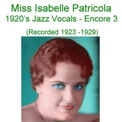 1920's Jazz Vocals (Encore 3) [Recorded 1923-1929]