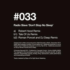 Dont Stop No Sleep (Remixes)