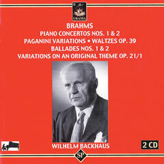 Brahms: Piano Concertos 1 & 2 - Paganini Variations - Waltzes - Ballades 1 & 2 - Variations on an Original Theme