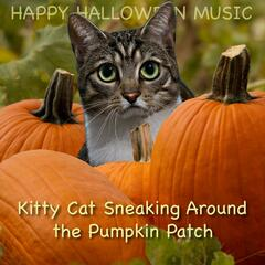 Kitty Cat Sneaking Around the Pumpkin Patch