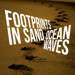 Footprints in Sand: Ocean Waves