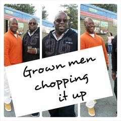 Grownmenchoppingitup