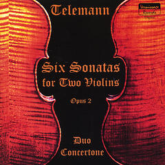 Telemann Six Sonatas For Two Violins, Op.2