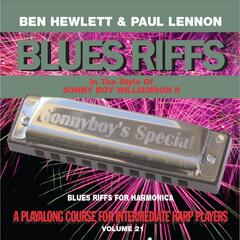 Blues Riffs for Harmonica, Vol. 21: Playalong Course for Intermediate Harp Players
