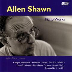 Allen Shawn: Piano Music