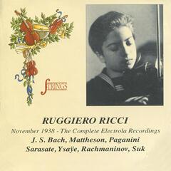 Ruggiero Ricci November 1938 - The Complete Electrola Recordings