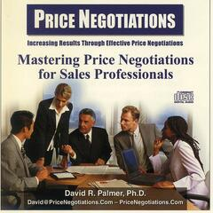 Price Negotiations for Sales Professional
