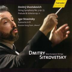 "Strring Symphony No. 3 op. 73, Prelude & Scherzo op. 11, Concerto in D, Russian Song from ""Mavra"""