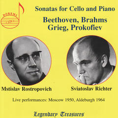 Rostropovich and Richter Perform Sonatas for Celllo and Piano