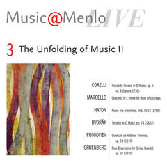 Music@Menlo The Unfolding of Music II: Disc 3; Corelli: Concerto Grosso, op. 6, no. 4 - Marcello: Concerto in c minor for oboe and strings - Haydn: Piano Trio - Dvořák: Terzetto