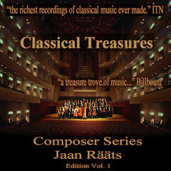 Classical Tresures Composer Series: Jaan Raats, Vol. 1