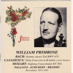 William Primrose Plays Mozart, Bach, Brahms