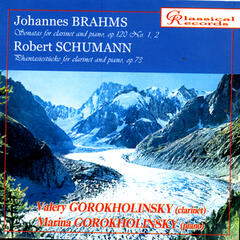 Brahms, Schumann. Works for clarinet and piano