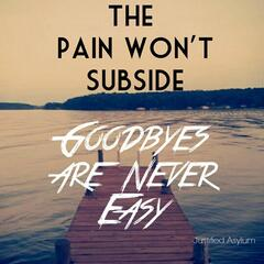 Goodbyes Are Never Easy (The Pain Won't Subside)