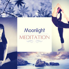Moonlight Meditation – Stress Relief and Trouble Sleeping, Therapy Music with Nature Sounds, Relaxing Background Music
