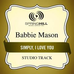 Simply, I Love You (Studio Track)