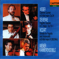 Weber: Clarinet Quintet in B Flat Major - Devienne: Fagotto Quartet in C Major - Mozart: Sonata for Fagotto and Violoncello