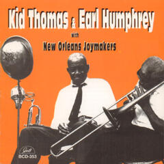 """Kid"" Thomas Valentine and Earl Humphrey with New Orleans Joymakers"