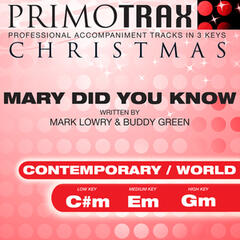 Mary Did You Know? - Christmas Primotrax - Performance Tracks - EP