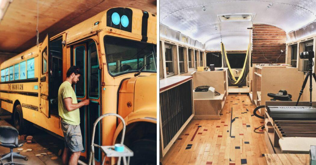 they turned school bus into a tiny home and it looks nicer