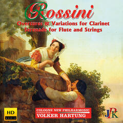 Rossini: Overtures and Variations for Clarinet & Serenade for Flute and Strings album art